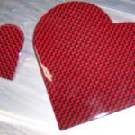 Lackiertes Herz aus Carbon